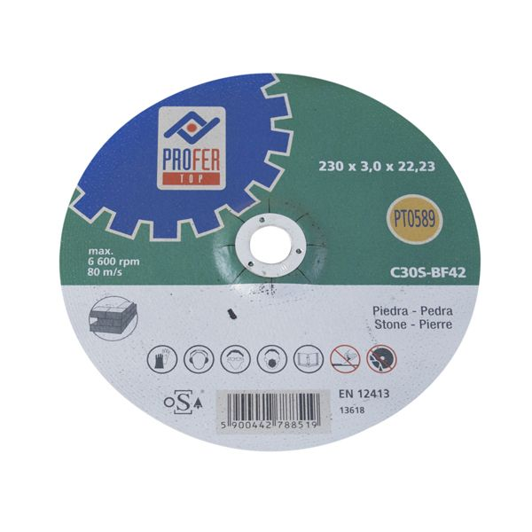 DISCO C PIEDRA PRO PROFER TOP 230X3 MM PT0589